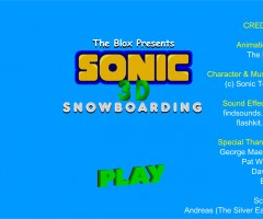 Sonic Snowboard Jeu