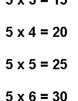 Table de Multiplication Par 5, Table de 5 à Imprimer
