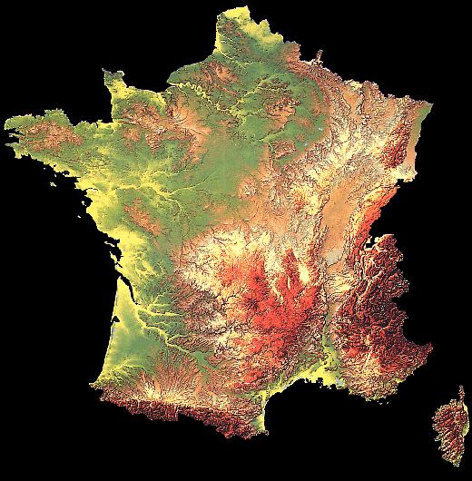 Carte de france fleuve
