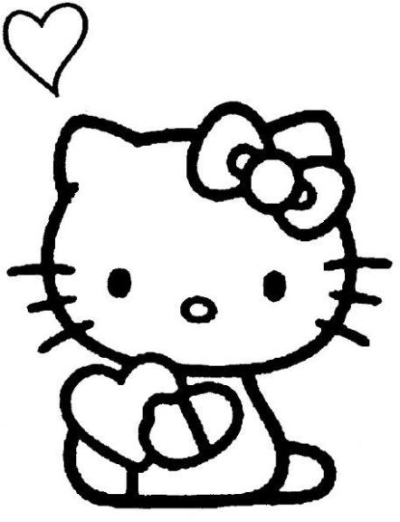 coloriage hello kitty coeur