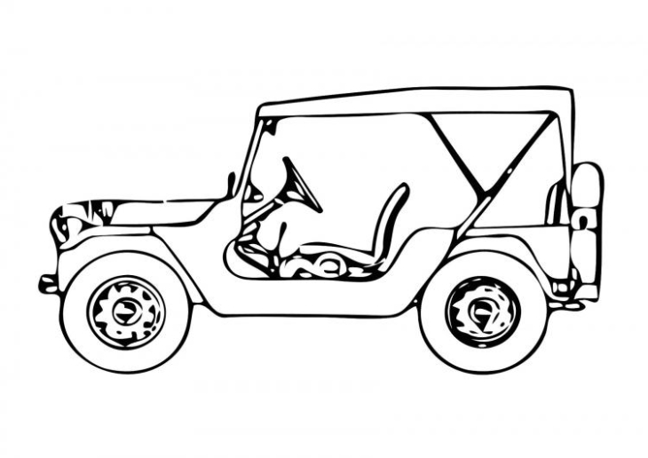 Coloriage voiture jeep