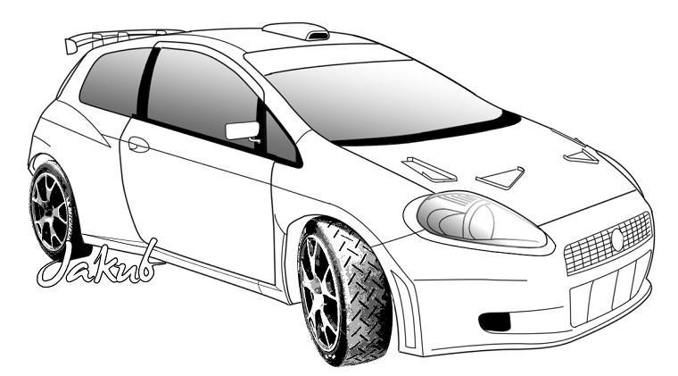 Voiture Tuning : coloriage voiture Tuning à imprimer