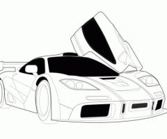 Coloriage voiture de course