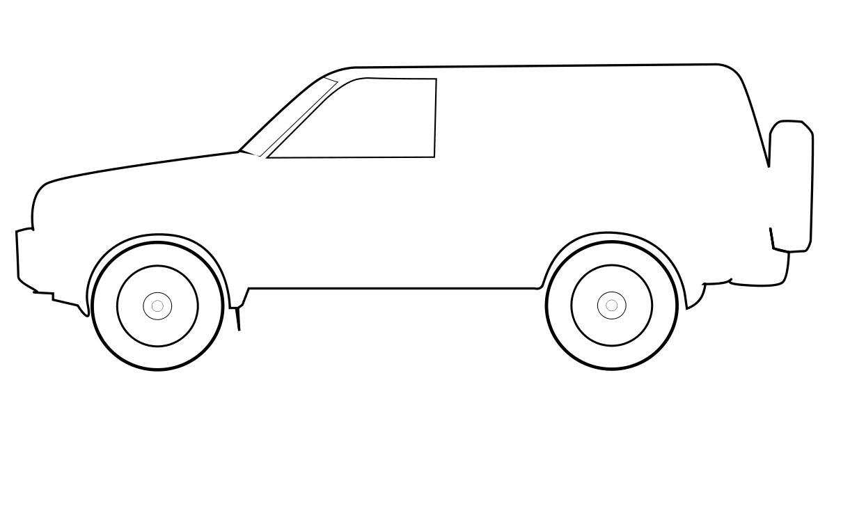 Coloriage voiture imprimer colorier une voiture berline - Voiture coloriage ...