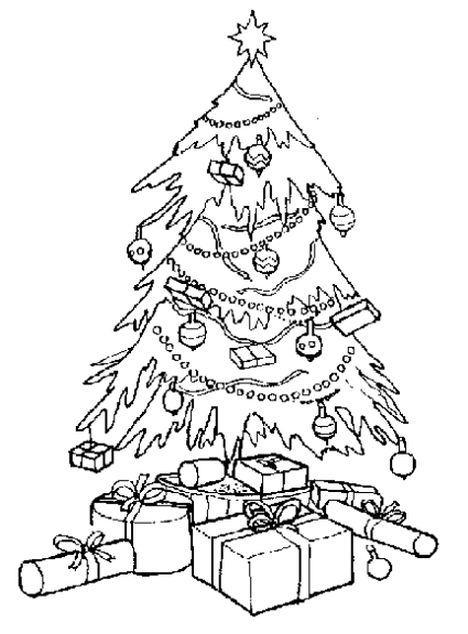Sapin de Noel : Coloriage Sapin de Noel, Colorier arbre de Noel