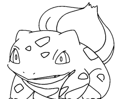 Coloriage bulbizarre pokemon