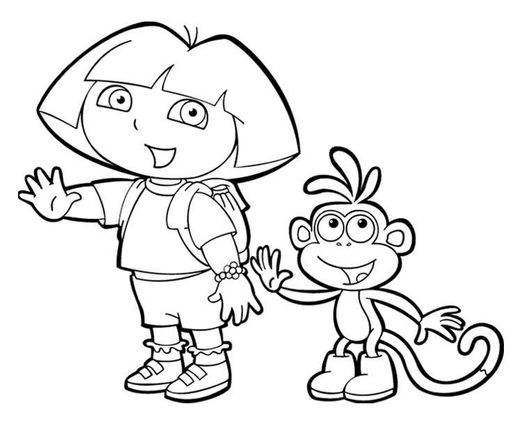 Dora Et Babouche Coloriage Dora L Exploratrice A Imprimer