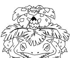 Coloriage florizarre pokemon