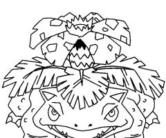 Coloriage florizarre pokemon