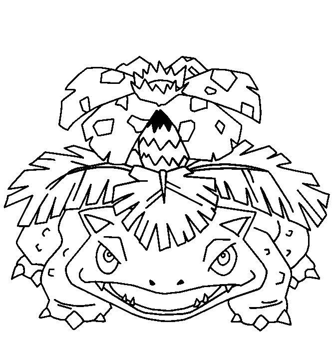 Pokemon Florizarre Coloriage Florizarre A Imprimer