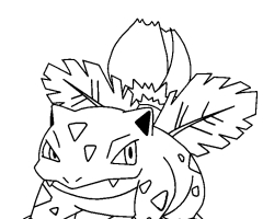 Coloriage herbizarre Pokemon