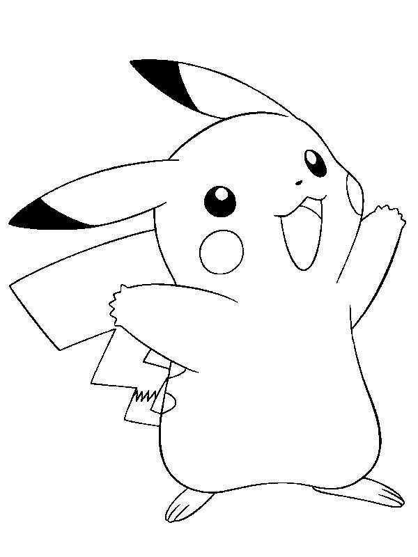 Pikachu : Coloriage Pokemon à imprimer