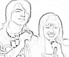 Coloriage camp rock