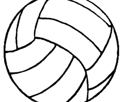 Coloriage ballon Volley