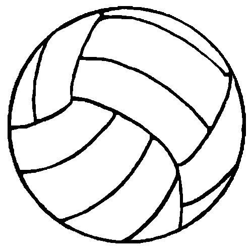 Ballon Pour Coloriage.Ballon De Volley Coloriage Ballon De Volley Ball Gratuit A