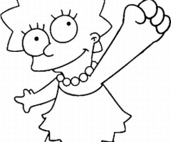 Lisa Simpson coloriage