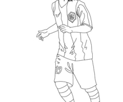 Coloriage Lionel Messi FC Barcelone