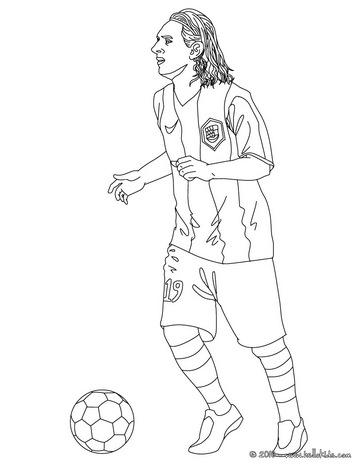 Coloriage Lionel Messi FC Barcelone