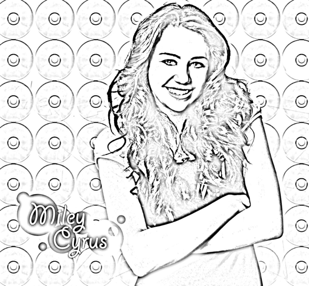 Coloriage Miley Cyrus