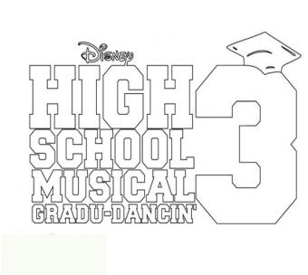 Coloriage High School Musical 3
