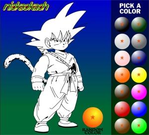 Jeu coloriage dragon ball