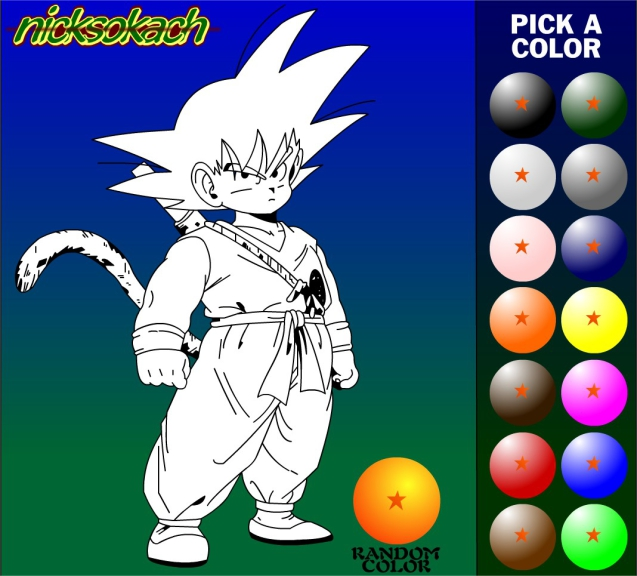 Jeu coloriage dragon ball