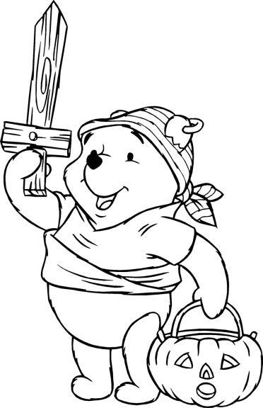 Winnie l'ourson coloriage