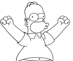 Coloriage Homer Simpson