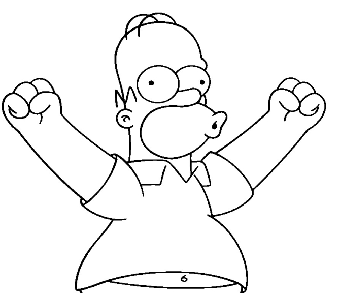 Homer coloriage homer simpson gratuit imprimer et - Coloriage homer simpson ...