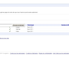 Envoyer sitemap dans google