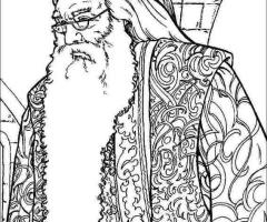Coloriage Albus Dumbledore