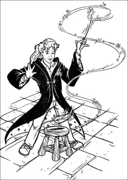 Coloriage sorcière hermione