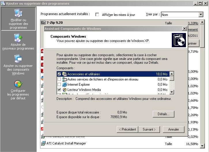 Composant Windows