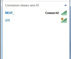 Connexion Réseau sans fil