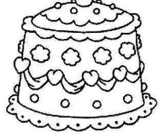 Coloriage gâteau de mariage