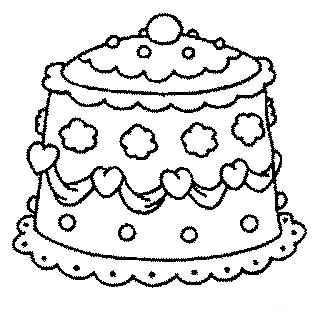 Gâteau Coloriage Gâteau De Mariage à Imprimer Et Colorier
