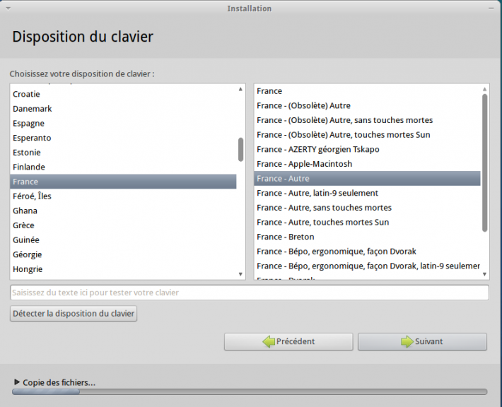 Clavier FR Xubuntu