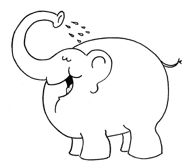 Coloriage d un l phant pour enfants imprimer et colorier - Dessin d un elephant ...