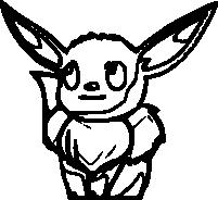 Coloriage Evoli Pokemon