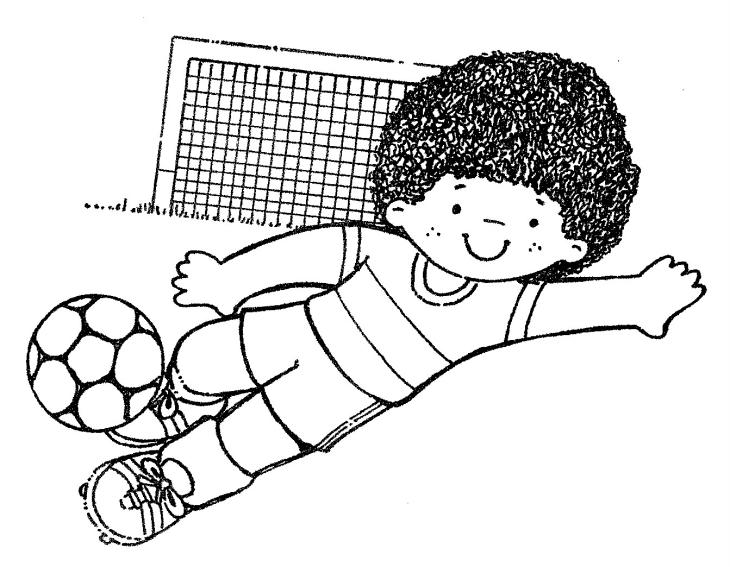 Coloriage d un petit gar on jouant au football imprimer et colorier - Coloriage de garcon ...