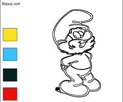 Coloriage grand Schtroumpf