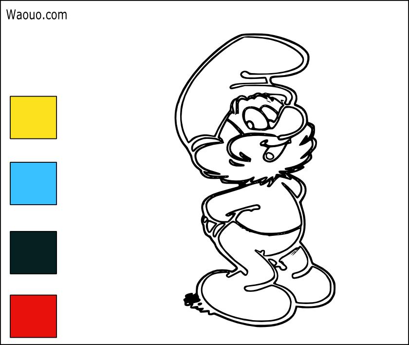 Coloriage gratuit grand schtroumpf imprimer et colorier - Coloriage grand ...