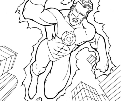 Coloriage Green Lantern