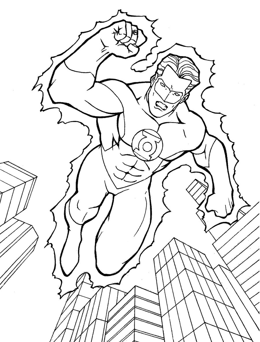Coloriage Green Lantern à imprimer et à colorier