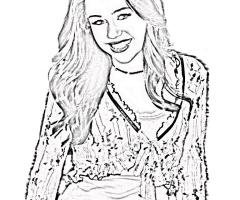 Coloriage Hannah Montana