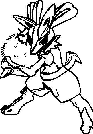 Lucario Coloriage Gratuit Pokemon Lucario A Imprimer Et A Colorier