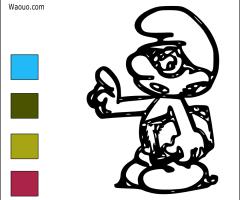 Coloriage Schtroumpf à Lunettes