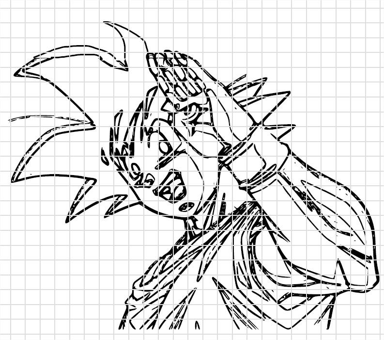 Coloriage Dragon Ball Z Dessin Sangoku A Imprimer Et Colorier