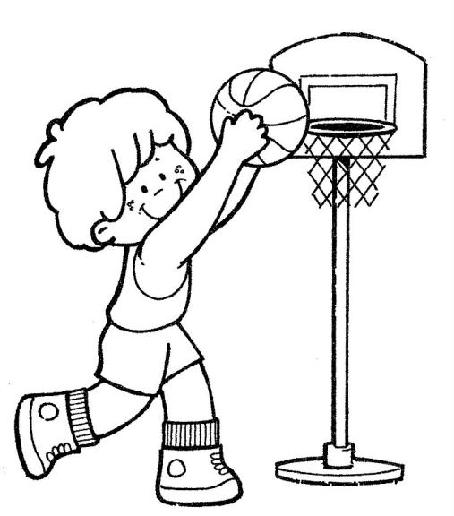 Dessin A Colorier Panier De Basket