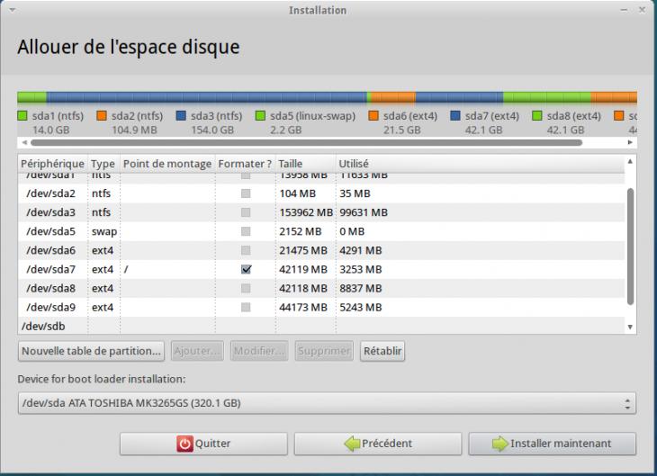 Installation Xubuntu sur une partition